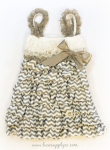Grey and White Chevron Dress